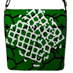 Abstract Clutter Flap Messenger Bag (s)