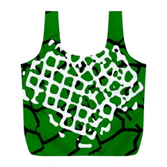 Abstract Clutter Full Print Recycle Bags (l)  by Nexatart