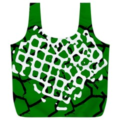 Abstract Clutter Full Print Recycle Bags (l)