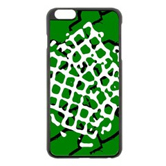 Abstract Clutter Apple Iphone 6 Plus/6s Plus Black Enamel Case