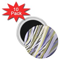 Wavy Ribbons Background Wallpaper 1 75  Magnets (10 Pack)