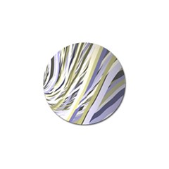 Wavy Ribbons Background Wallpaper Golf Ball Marker (10 Pack) by Nexatart