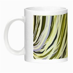 Wavy Ribbons Background Wallpaper Night Luminous Mugs