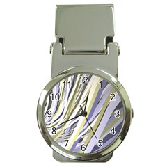 Wavy Ribbons Background Wallpaper Money Clip Watches by Nexatart