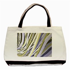 Wavy Ribbons Background Wallpaper Basic Tote Bag