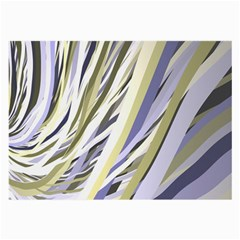 Wavy Ribbons Background Wallpaper Large Glasses Cloth (2 Side)
