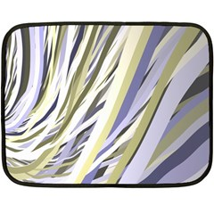 Wavy Ribbons Background Wallpaper Double Sided Fleece Blanket (mini)  by Nexatart