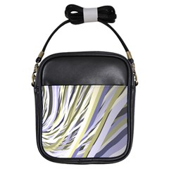 Wavy Ribbons Background Wallpaper Girls Sling Bags by Nexatart