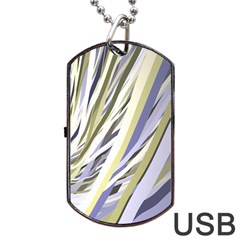 Wavy Ribbons Background Wallpaper Dog Tag Usb Flash (one Side)