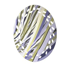 Wavy Ribbons Background Wallpaper Oval Filigree Ornament (two Sides) by Nexatart