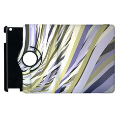 Wavy Ribbons Background Wallpaper Apple Ipad 2 Flip 360 Case by Nexatart