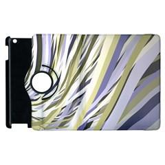 Wavy Ribbons Background Wallpaper Apple Ipad 3/4 Flip 360 Case by Nexatart