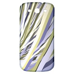 Wavy Ribbons Background Wallpaper Samsung Galaxy S3 S Iii Classic Hardshell Back Case by Nexatart