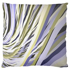 Wavy Ribbons Background Wallpaper Large Flano Cushion Case (two Sides) by Nexatart