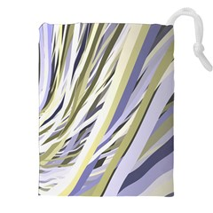 Wavy Ribbons Background Wallpaper Drawstring Pouches (xxl) by Nexatart