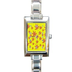 Autumn Background Rectangle Italian Charm Watch