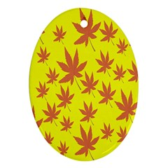 Autumn Background Ornament (oval)