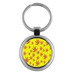 Autumn Background Key Chains (round)  by Nexatart