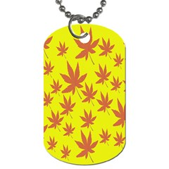 Autumn Background Dog Tag (two Sides)