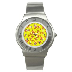 Autumn Background Stainless Steel Watch by Nexatart