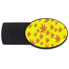 Autumn Background Usb Flash Drive Oval (4 Gb)