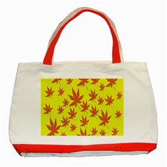 Autumn Background Classic Tote Bag (red) by Nexatart