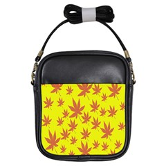 Autumn Background Girls Sling Bags by Nexatart