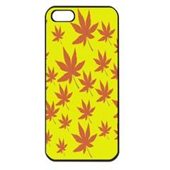 Autumn Background Apple Iphone 5 Seamless Case (black)