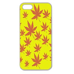 Autumn Background Apple Seamless Iphone 5 Case (clear)