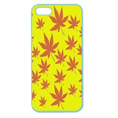 Autumn Background Apple Seamless Iphone 5 Case (color) by Nexatart
