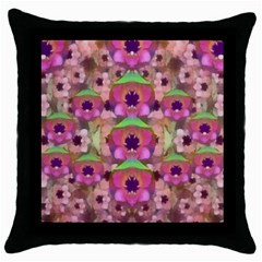 It Is Lotus In The Air Throw Pillow Case (black) by pepitasart