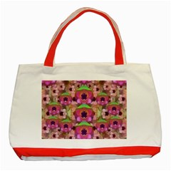 It Is Lotus In The Air Classic Tote Bag (red) by pepitasart