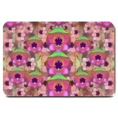 It Is Lotus In The Air Large Doormat  by pepitasart