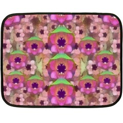 It Is Lotus In The Air Double Sided Fleece Blanket (mini)  by pepitasart