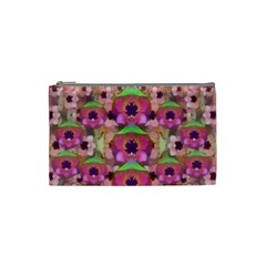 It Is Lotus In The Air Cosmetic Bag (small)  by pepitasart