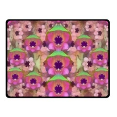 It Is Lotus In The Air Fleece Blanket (small) by pepitasart