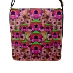 It Is Lotus In The Air Flap Messenger Bag (l)  by pepitasart