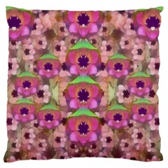It Is Lotus In The Air Large Flano Cushion Case (two Sides) by pepitasart