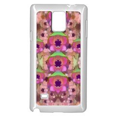 It Is Lotus In The Air Samsung Galaxy Note 4 Case (white) by pepitasart