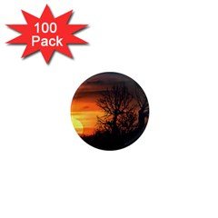 Sunset At Nature Landscape 1  Mini Magnets (100 Pack)  by dflcprints