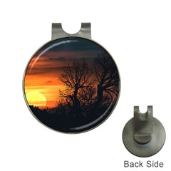 Sunset At Nature Landscape Hat Clips With Golf Markers by dflcprints