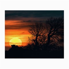 Sunset At Nature Landscape Small Glasses Cloth