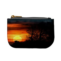 Sunset At Nature Landscape Mini Coin Purses by dflcprints