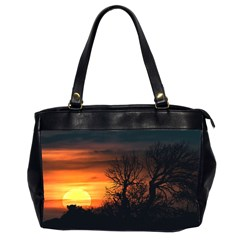 Sunset At Nature Landscape Office Handbags (2 Sides)  by dflcprints