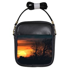 Sunset At Nature Landscape Girls Sling Bags by dflcprints