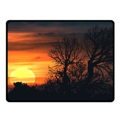 Sunset At Nature Landscape Fleece Blanket (small) by dflcprints