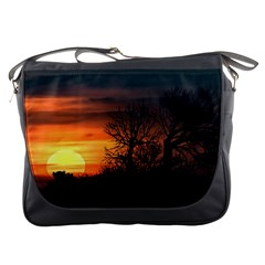 Sunset At Nature Landscape Messenger Bags by dflcprints