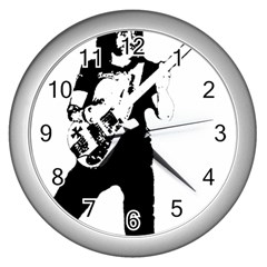 Lemmy   Wall Clocks (silver)  by Photozrus
