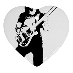 Lemmy   Heart Ornament (two Sides) by Photozrus