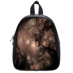 A Fractal Image In Shades Of Brown School Bags (small)  by Nexatart